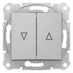 Бутон за управление на щори, алуминий (механизъм + монт. рамка)