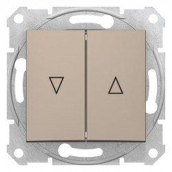 Бутон за управление на щори, титан (механизъм + монт. рамка)
