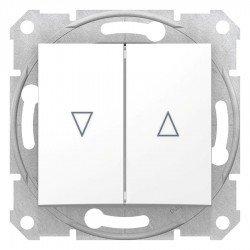 Ключ за управление на щори, бял (механизъм + монт. рамка)