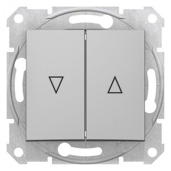 Ключ за управление на щори, алуминий (механизъм + монт. рамка)