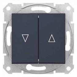 Ключ за управление на щори, графит (механизъм + монт. рамка)