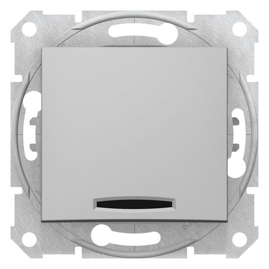 Девиаторен ключ, сигнална лампа,16 A, алуминий