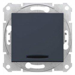 Девиаторен ключ, 16A, сигнална лампа, графит