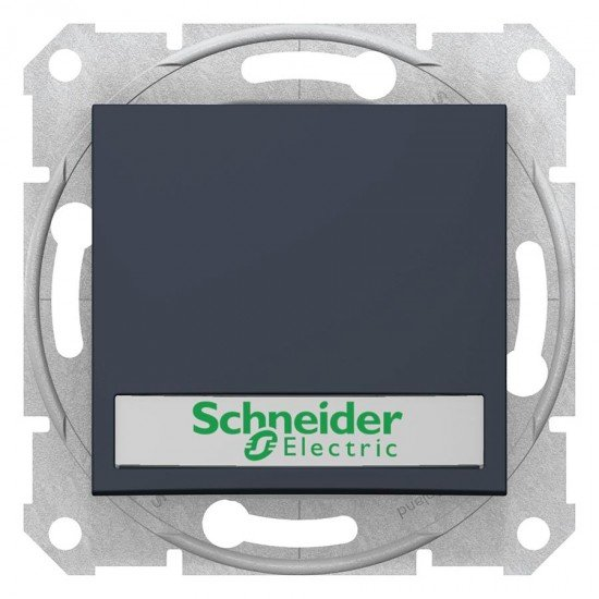 Ключ Sedna - 10 A, с държач за етикет, сигнална лампа, без рамка, сив