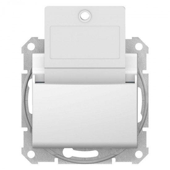 Ключ - карта, бял (механизъм + монт. рамка)