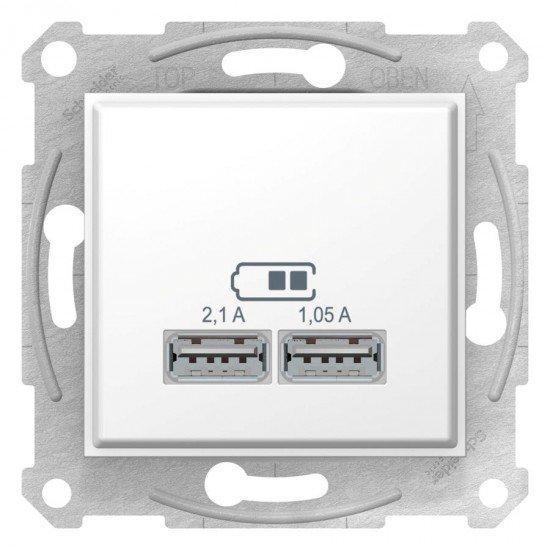 Sedna - USB зарядно 2.1 A - бяло