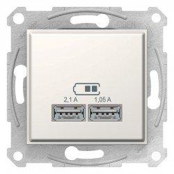 Sedna - USB зарядно 2.1 A - крема