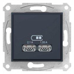 Sedna - USB зарядно 2.1 A - графит