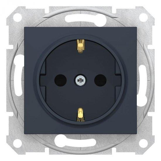 Механизъм контакт шуко 16А графит