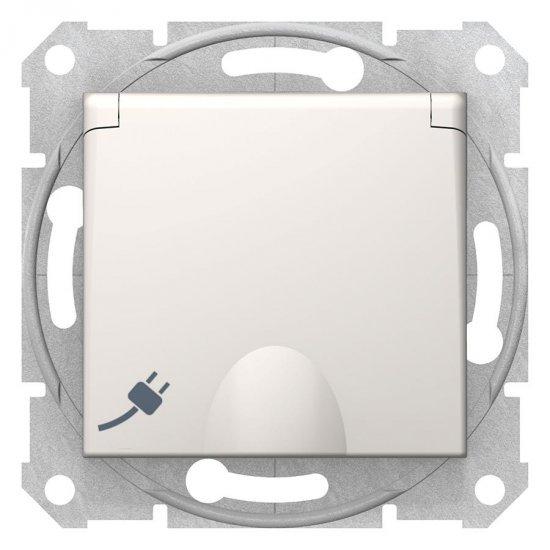 Механизъм контакт шуко с капак 16А крем