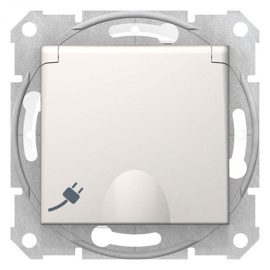 Механизъм контакт шуко с капак крем 16А IP44