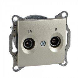 Механизъм розетка TV-R 1dB титан