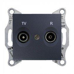 Механизъм розетка TV-R 1dB графит