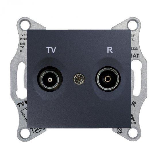 Механизъм розетка TV-R 4dB графит