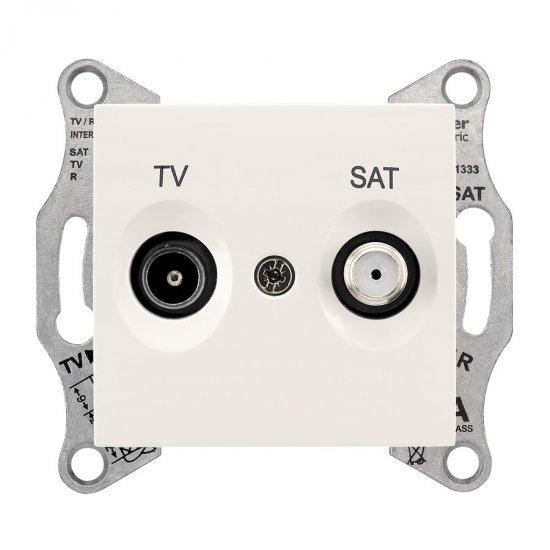 Механизъм розетка TV-SAT 8dB крем