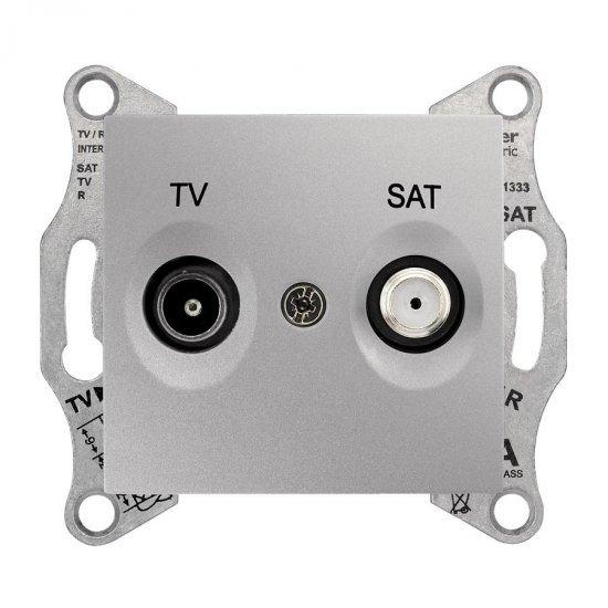 Механизъм розетка TV-SAT 1dB алуминий
