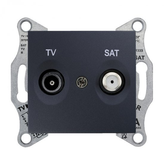 Механизъм розетка TV-SAT 1dB графит