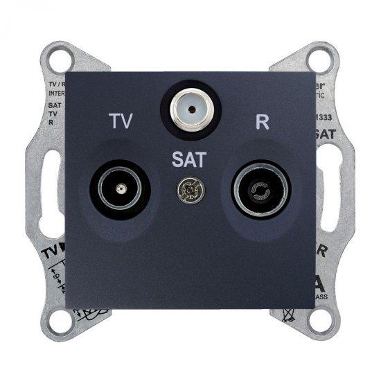 Механизъм розетка TV-SAT-R 8dB графит