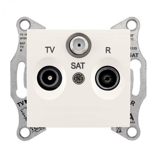 Механизъм розетка TV-SAT-R 1dB крем