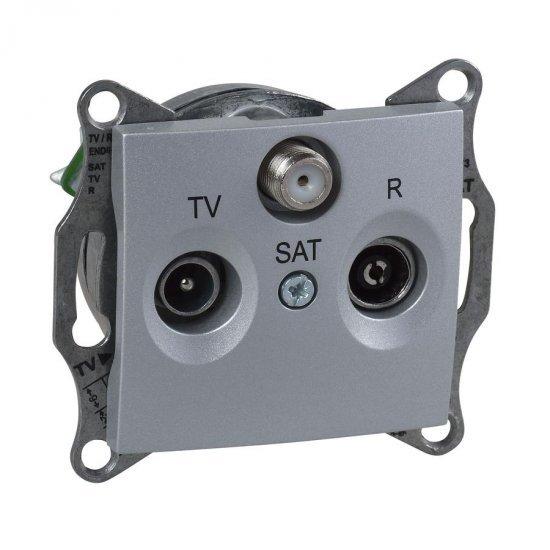 Механизъм розетка TV-SAT-R 1dB алуминий
