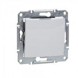 Капак за свободен модул, бял (механизъм + монт. рамка)