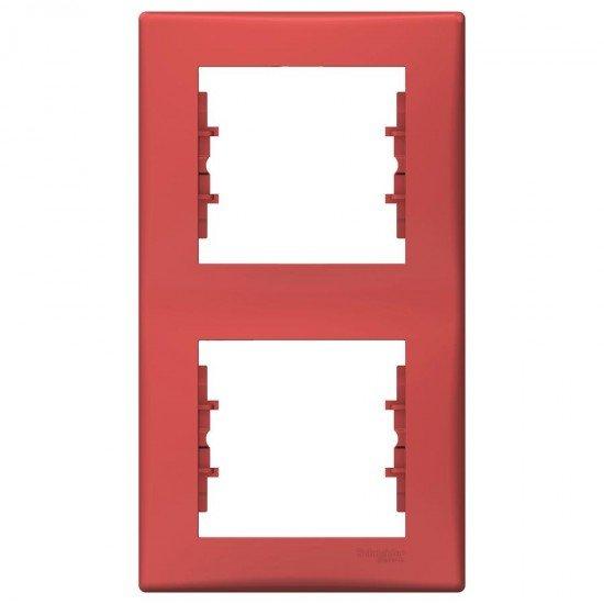 Рамка 2-на вертикална червена