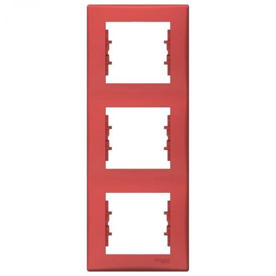 Рамка 3-на вертикална червена