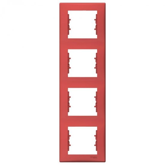 Рамка 4-на вертикална червена