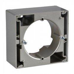 Единична кутия за открит монтаж, titanium