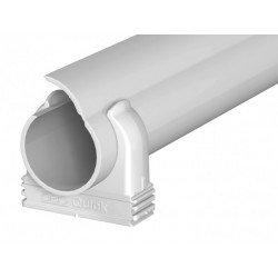 Отваряема PVC тръба Quick pipe M 20, сива