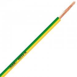 Проводник H05V-K 1X0,75 жълто-зелен